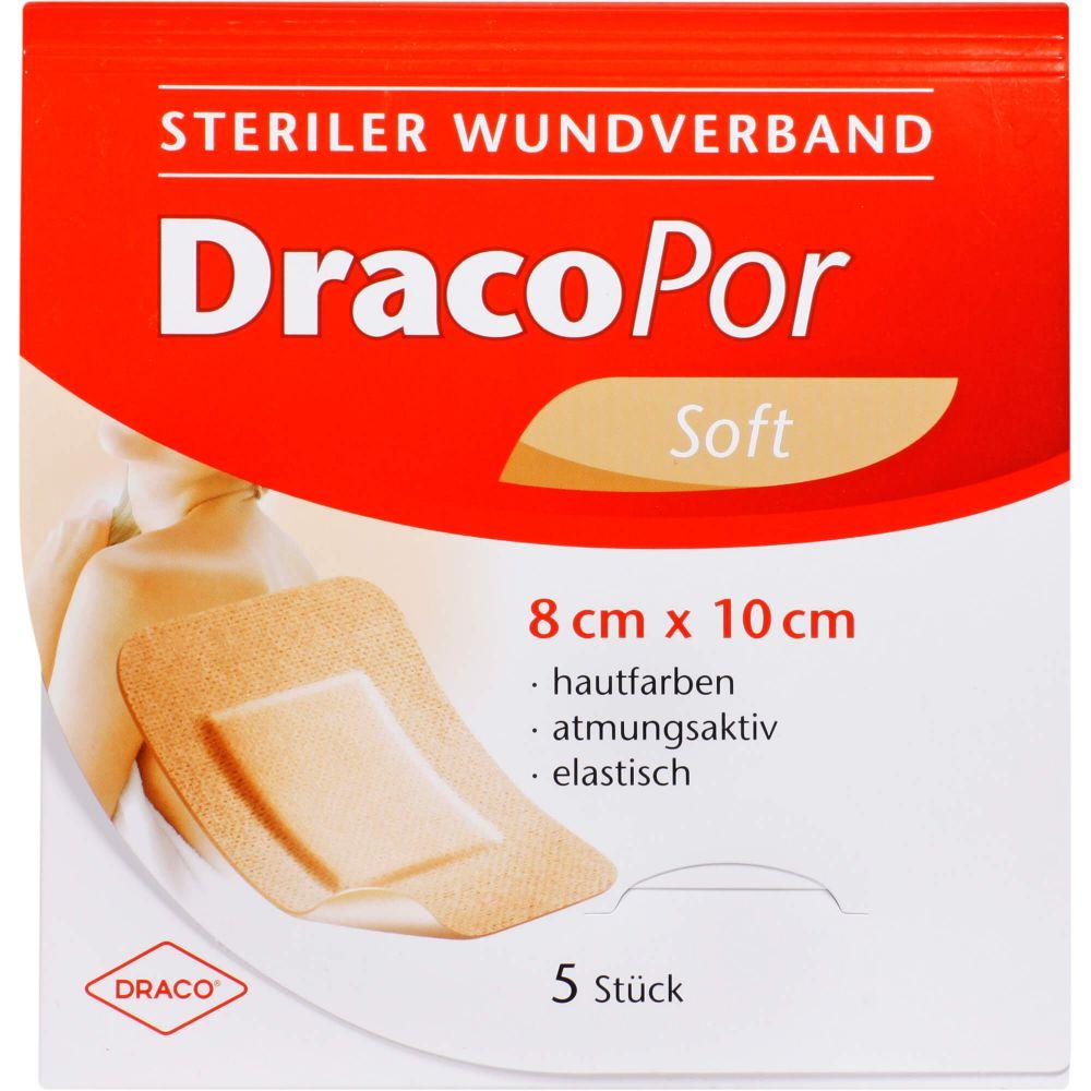 DRACOPOR Wundverband 8x10 cm steril hautfarben