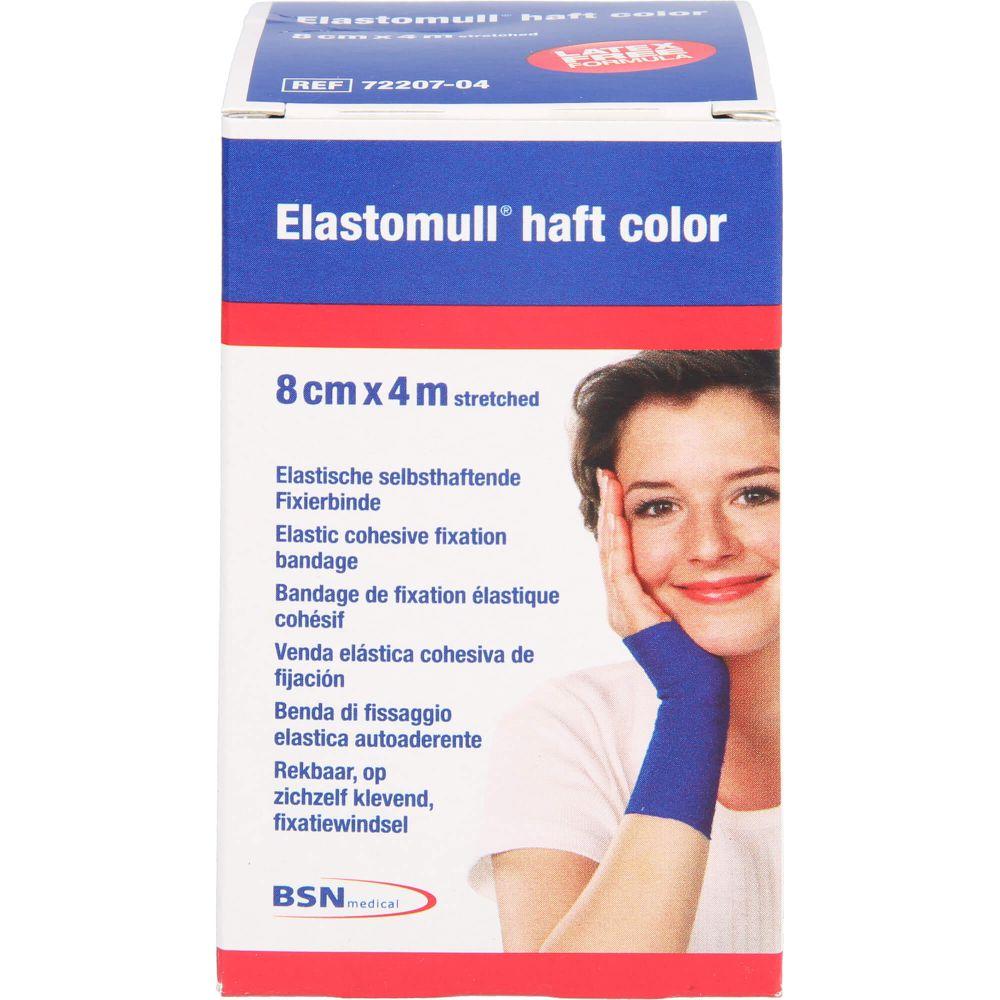 ELASTOMULL haft color 8 cmx4 m Fixierb.blau
