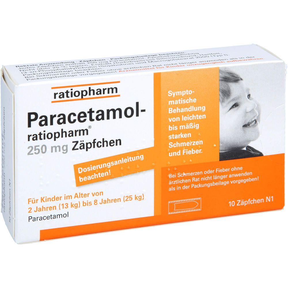 PARACETAMOL-ratiopharm 250 mg Zäpfchen