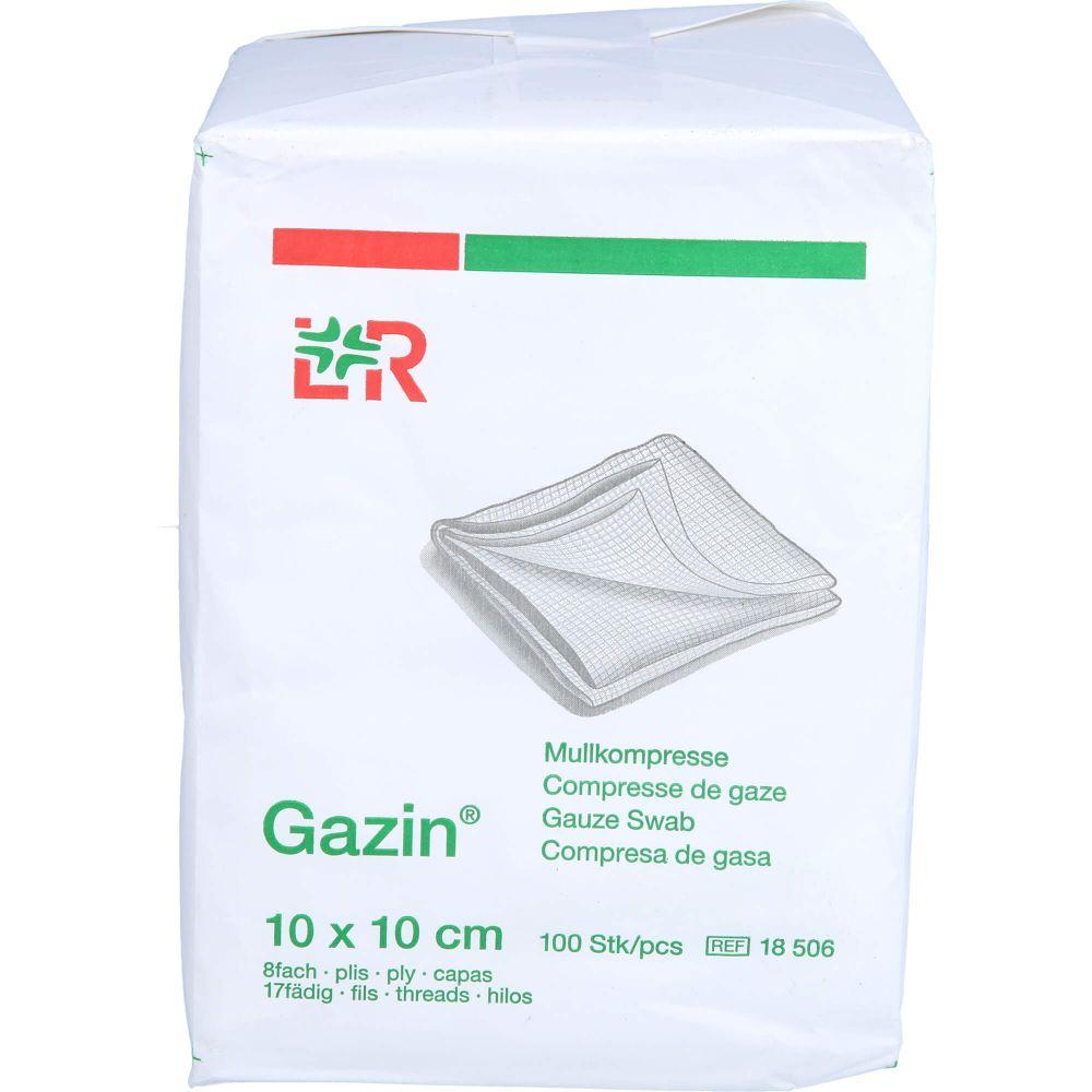 GAZIN Mullkomp.10x10 cm unsteril 8fach Op