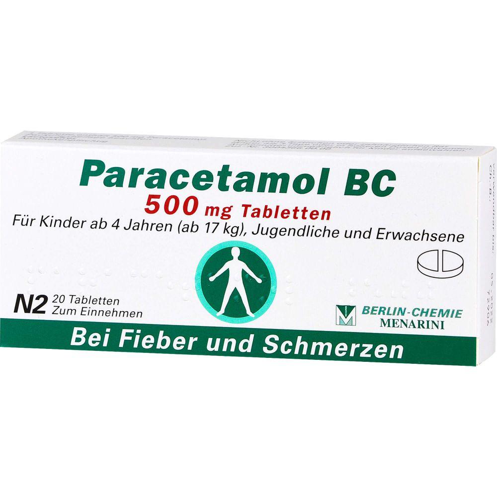 PARACETAMOL BC 500 mg Tabletten