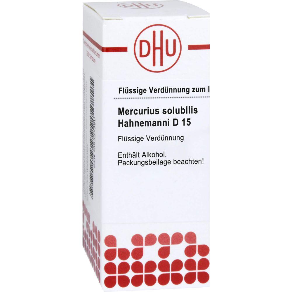 MERCURIUS SOLUBILIS Hahnemanni D 15 Dilution