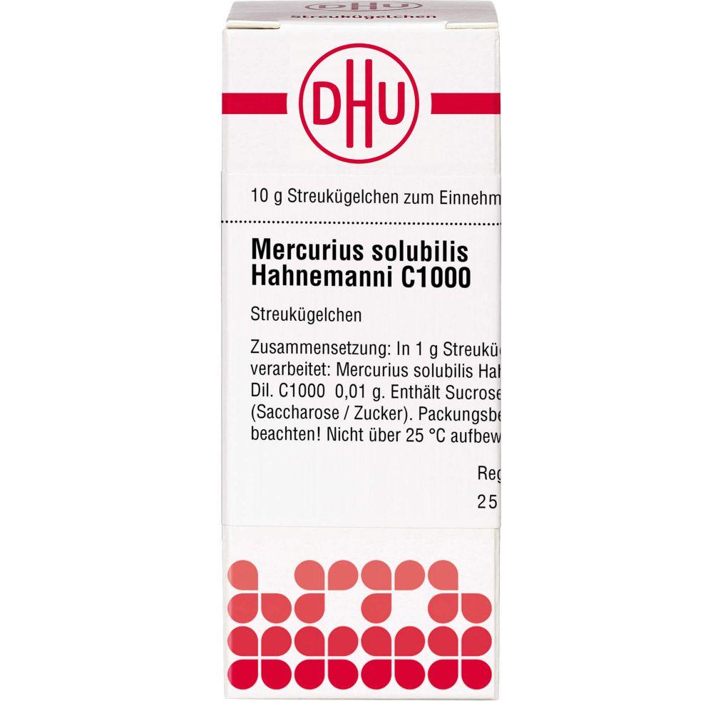 MERCURIUS SOLUBILIS Hahnemanni C 1000 Globuli