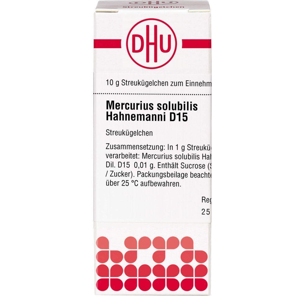 MERCURIUS SOLUBILIS Hahnemanni D 15 Globuli