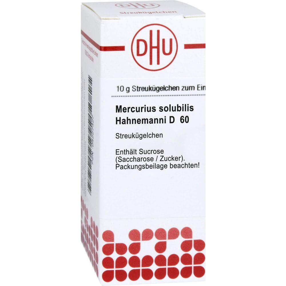MERCURIUS SOLUBILIS Hahnemanni D 60 Globuli