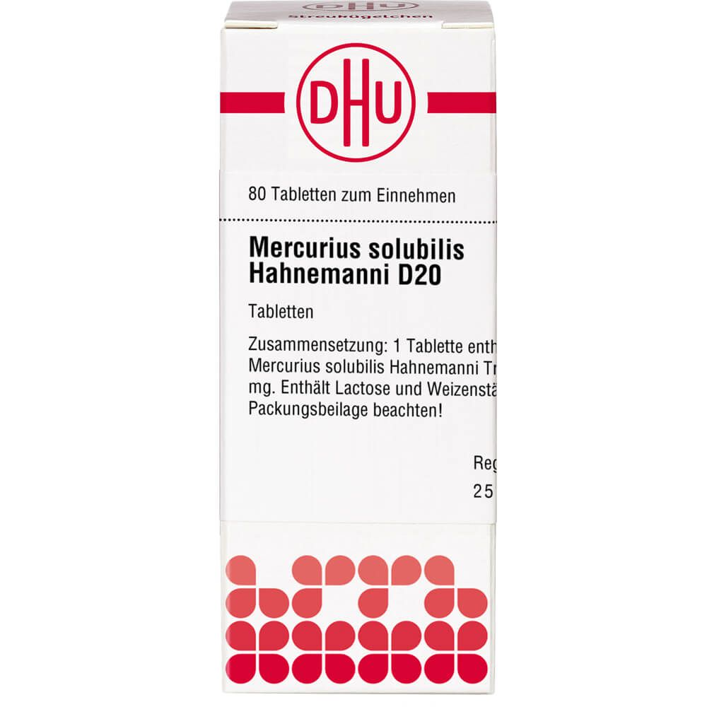 MERCURIUS SOLUBILIS Hahnemanni D 20 Tabletten