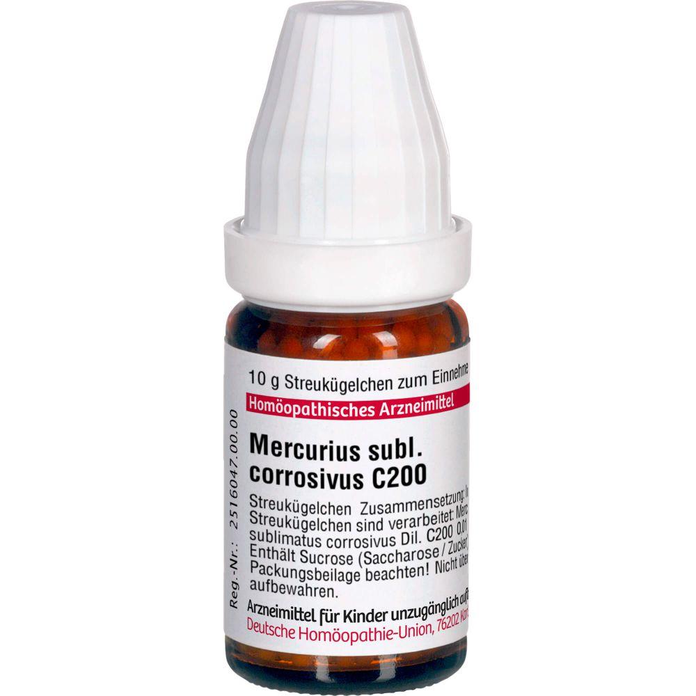 MERCURIUS SUBLIMATUS corrosivus C 200 Globuli