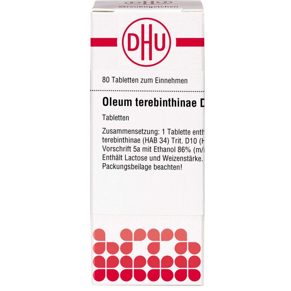 OLEUM TEREBINTHINAE D 10 Tabletten