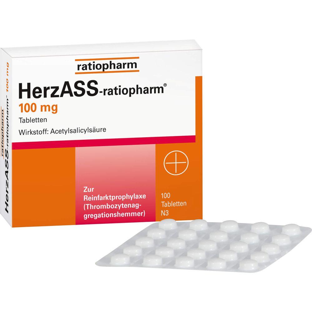 HERZASS-ratiopharm 100 mg Tabletten