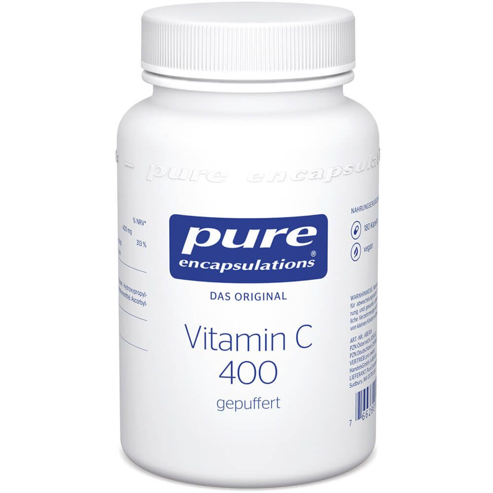 PURE ENCAPSULATIONS Vitamin C 400 gepuffert Kaps.
