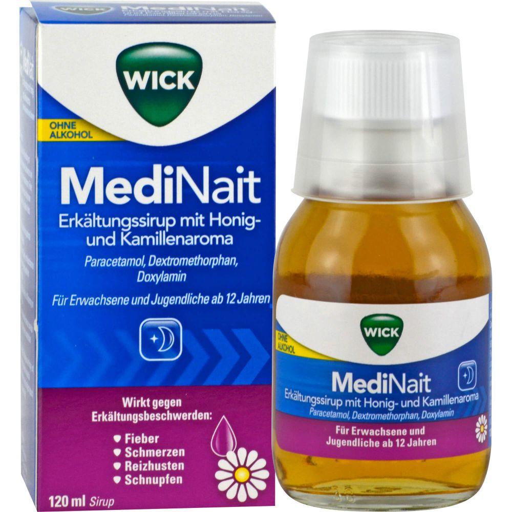 WICK MediNait Erkält.Sir.m.Honig-u.Kamil.Aroma