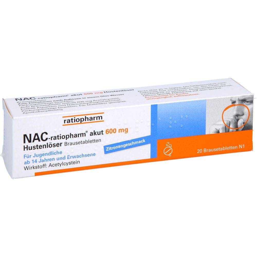 NAC-ratiopharm akut 600 mg Hustenlöser Brausetabl.