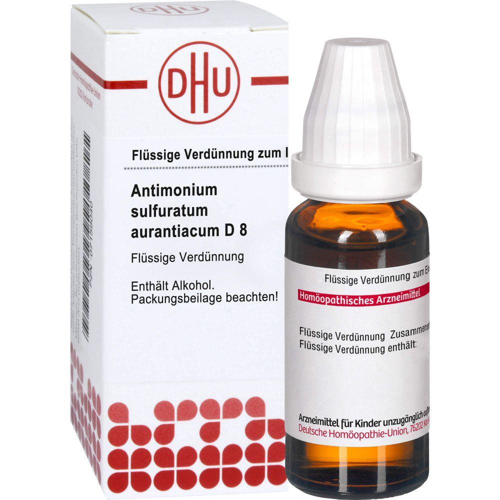 ANTIMONIUM SULFURATUM aurantiacum D 8 Dilution