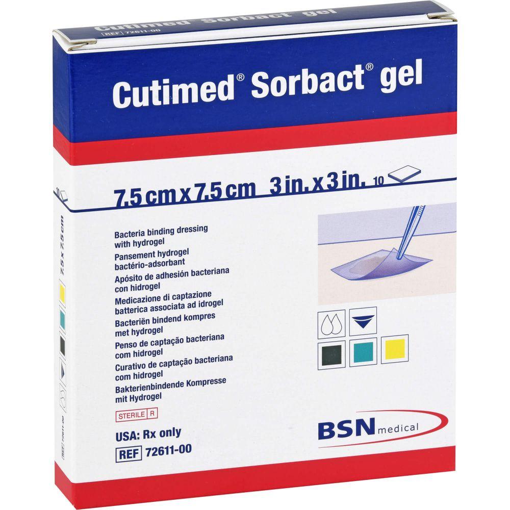 CUTIMED Sorbact Gel Kompressen 7,5x7,5 cm