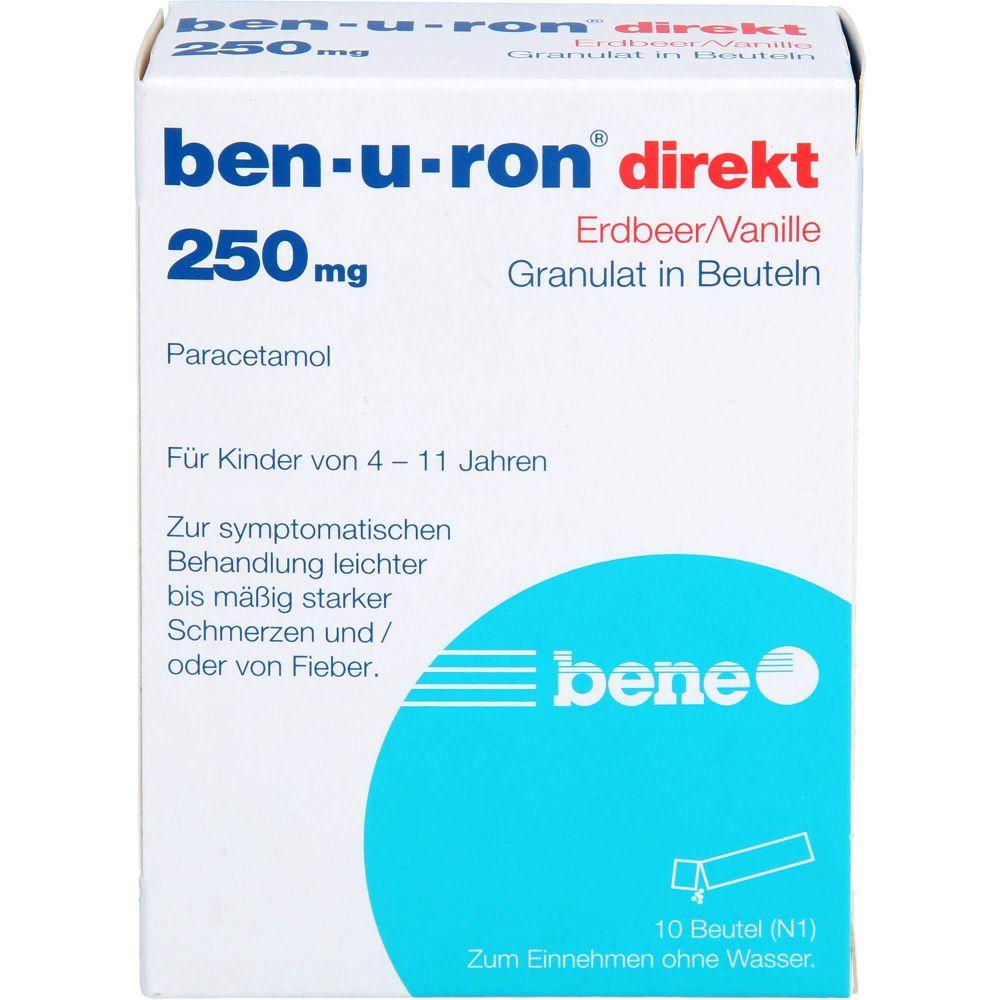 BEN-U-RON direkt 250 mg Granulat Erdbeer/Vanille