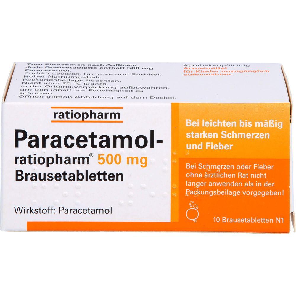 PARACETAMOL-ratiopharm 500 mg Brausetabletten