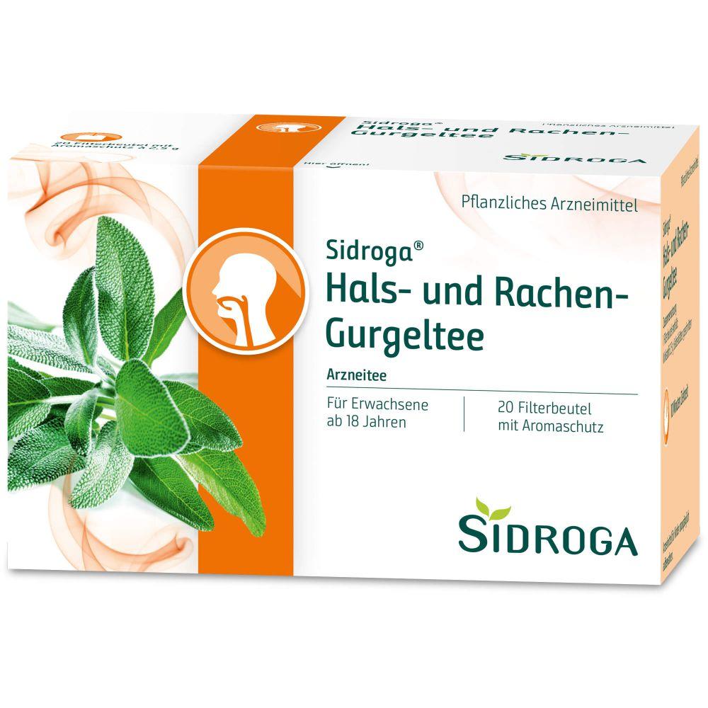 SIDROGA Hals- und Rachen-Gurgeltee Filterbeutel