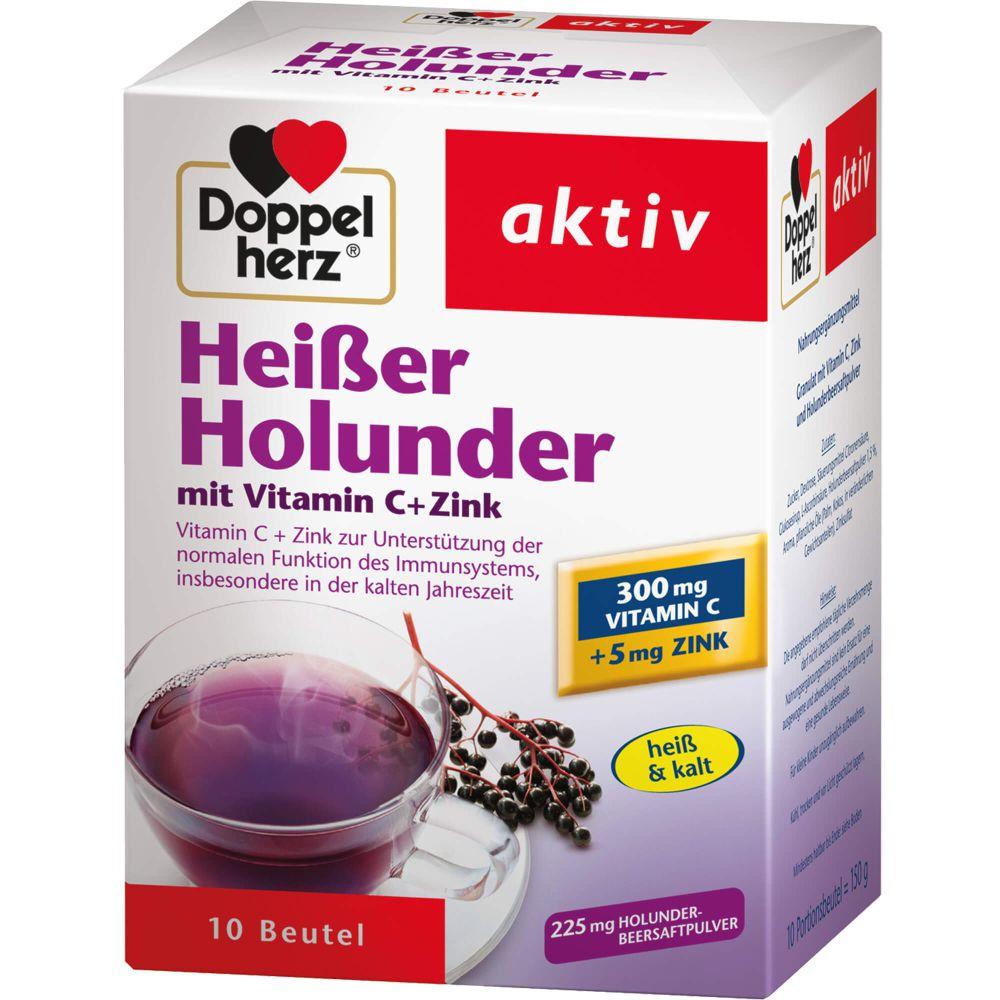 DOPPELHERZ heißer Holunder m.Vit.C+Zink Granulat