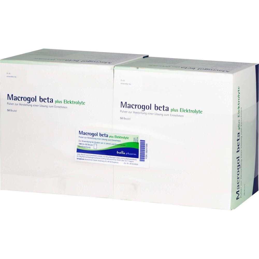 MACROGOL beta plus Elektrolyte Plv.z.H.e.L.z.Einn.
