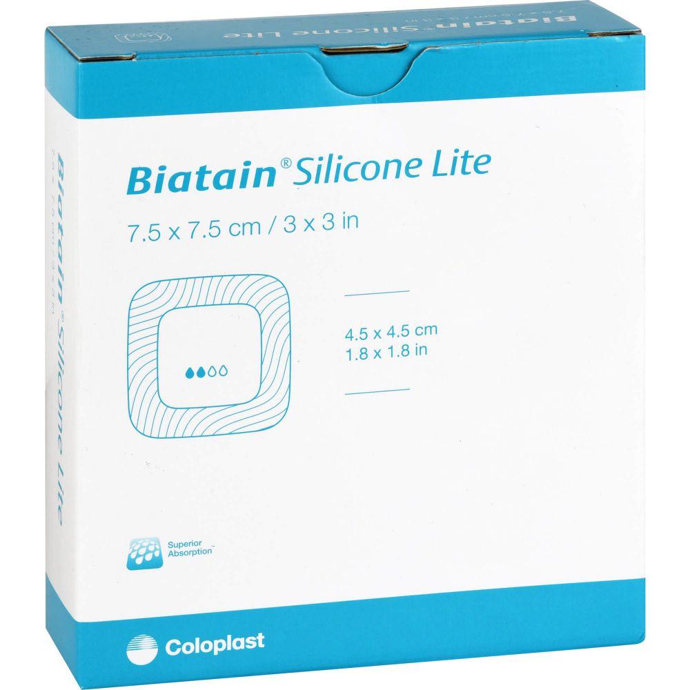 BIATAIN Silikon Lite Schaumverband 7,5x7,5 cm