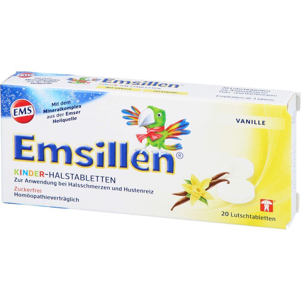 EMSILLEN Kinder Halstabletten Vanille