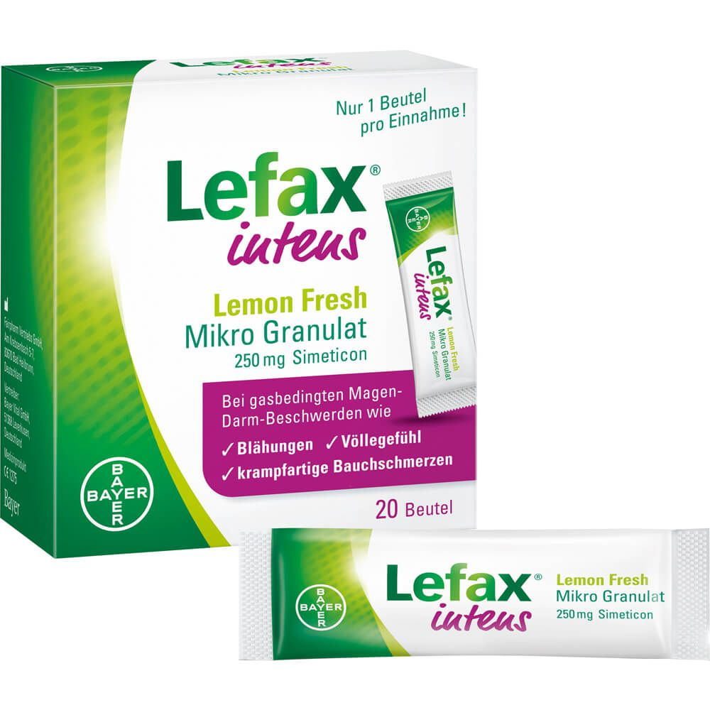 LEFAX intens Lemon Fresh Mikro Granul.250 mg Sim.