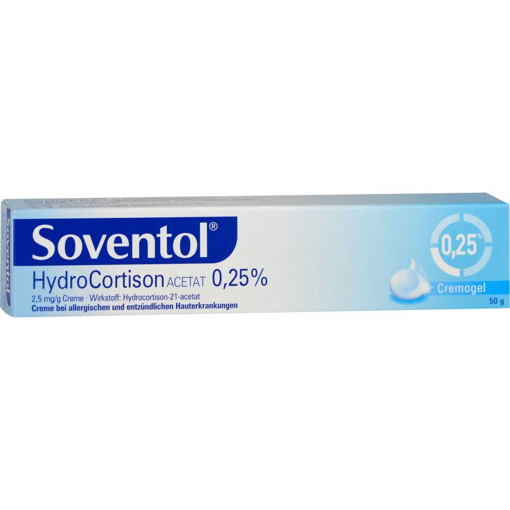 SOVENTOL Hydrocortisonacetat 0,25% Creme