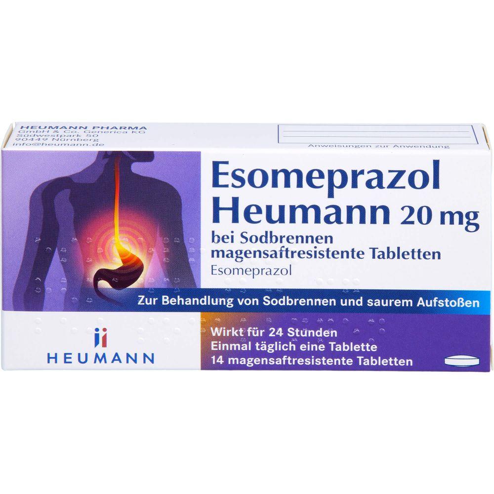 ESOMEPRAZOL Heumann 20 mg bei Sodbrennen msr.Tabl.