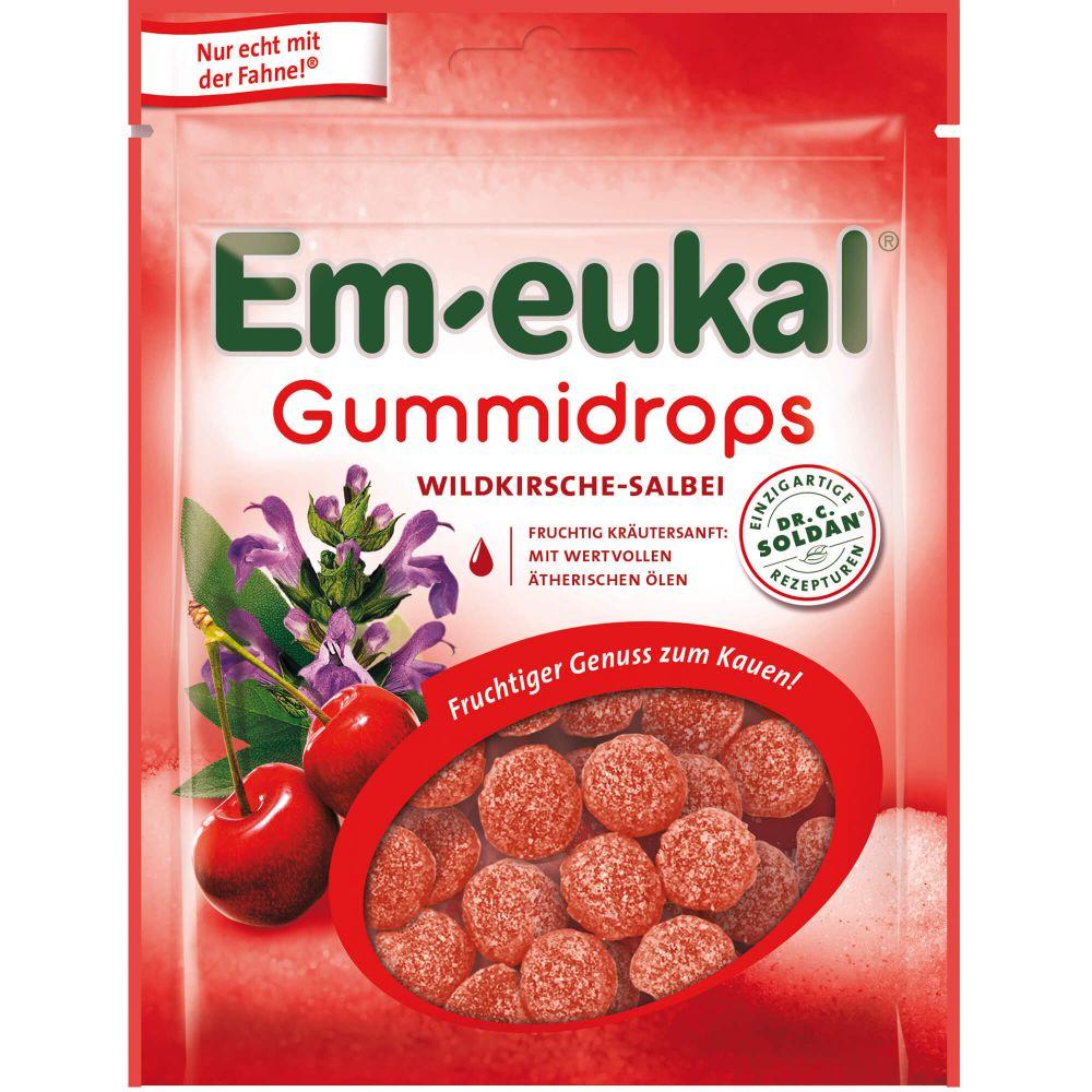 EM EUKAL Gummidrops Wildkirsche-Salbei zuckerhalt.