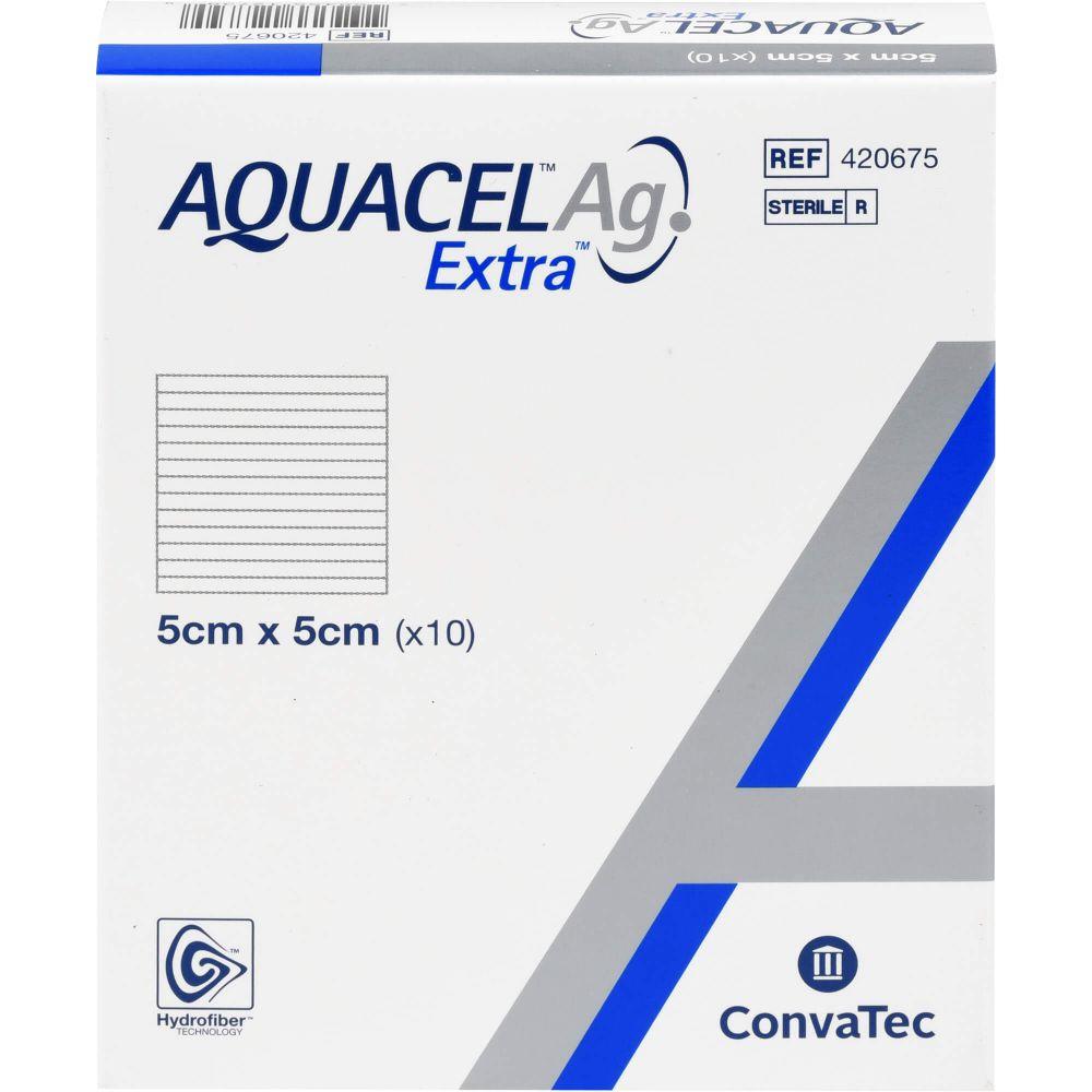 AQUACEL Ag Extra 5x5 cm Kompressen