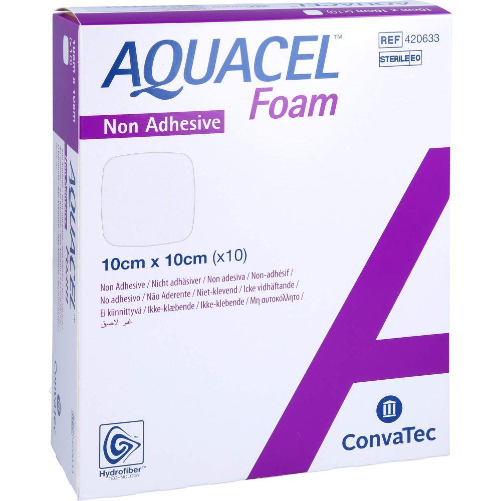 AQUACEL Foam nicht adhäsiv 10x10 cm Verband