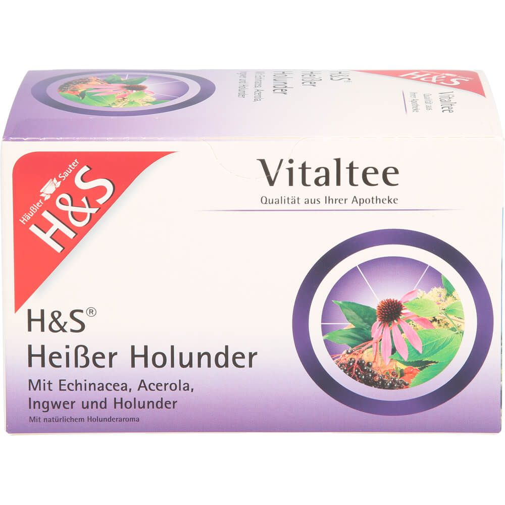 H&S heißer Holunder Vitaltee Filterbeutel
