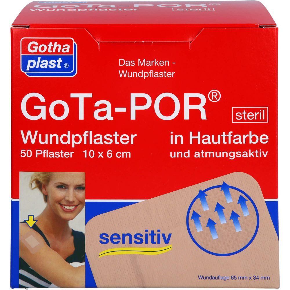GOTA-POR Wundpflaster steril 60x100 mm hautfarben