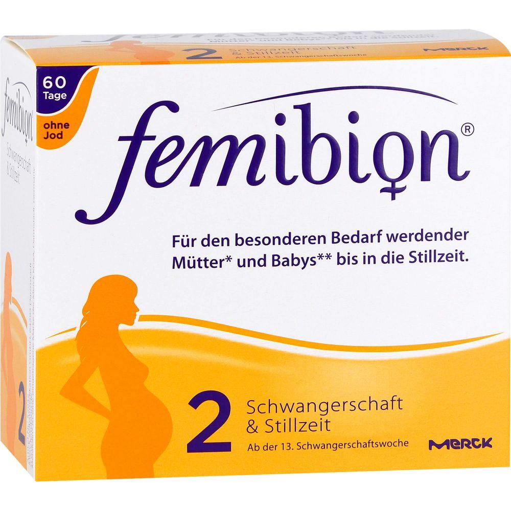 FEMIBION Schwangerschaft 2 D3+DHA+400 μg Fol.o.Jod