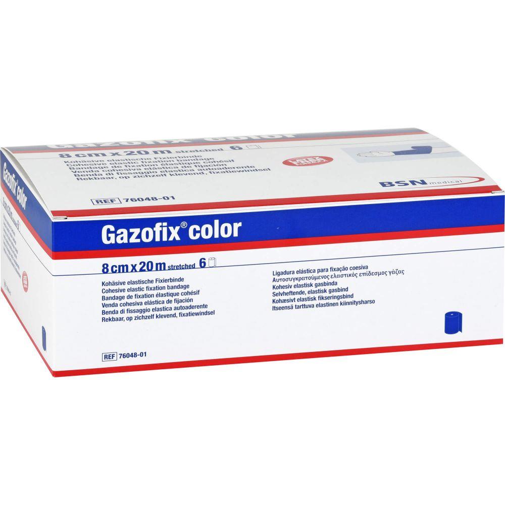 GAZOFIX color Fixierbinde kohäsiv 8 cmx20 m blau