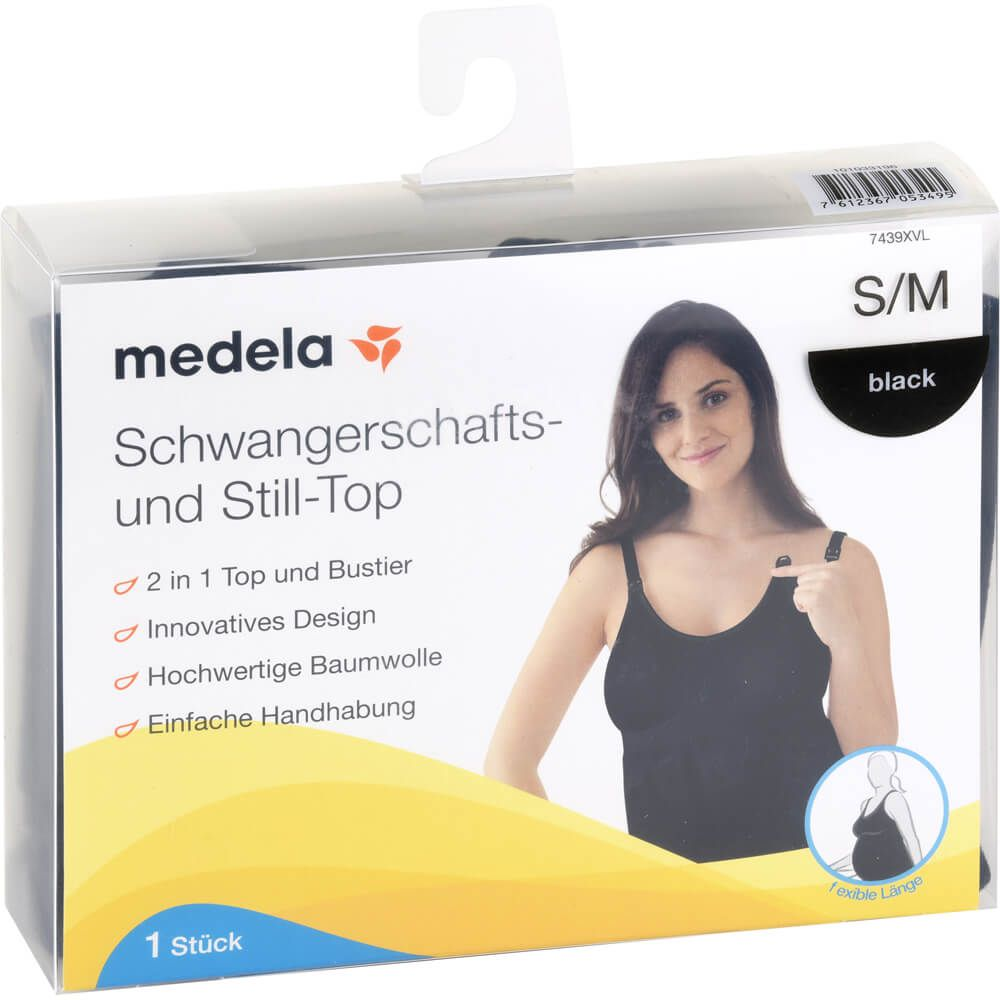 MEDELA Schwangerschafts- u.Still-Top S/M schwarz