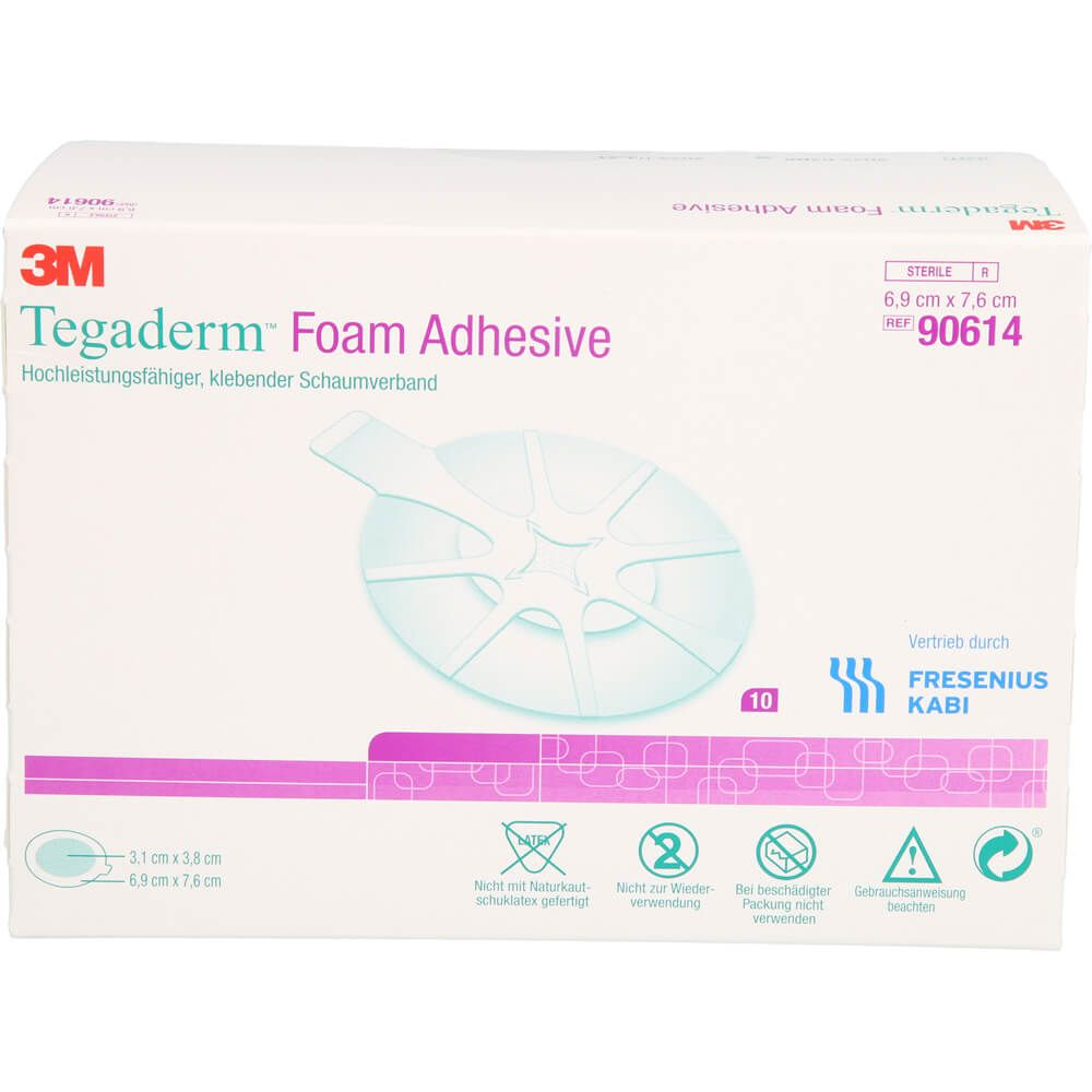 TEGADERM Foam Adhesive 6,9x7,6 cm oval 90614