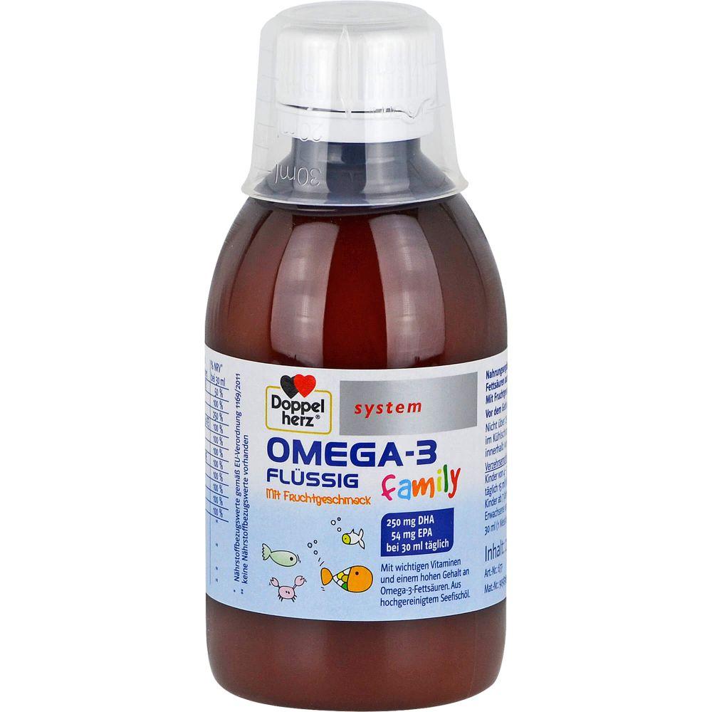 DOPPELHERZ Omega-3 flüssig family system