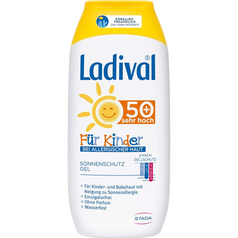 LADIVAL Kinder Sonnengel allergische Haut LSF 50+