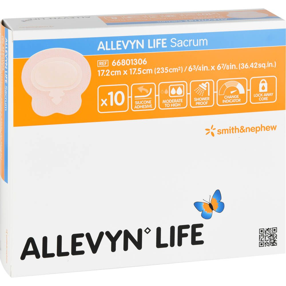 ALLEVYN Life Sacrum klein Silikonschaumverband