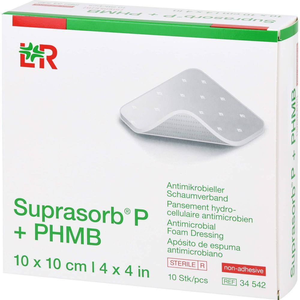SUPRASORB P+PHMB Schaumverband 10x10 cm