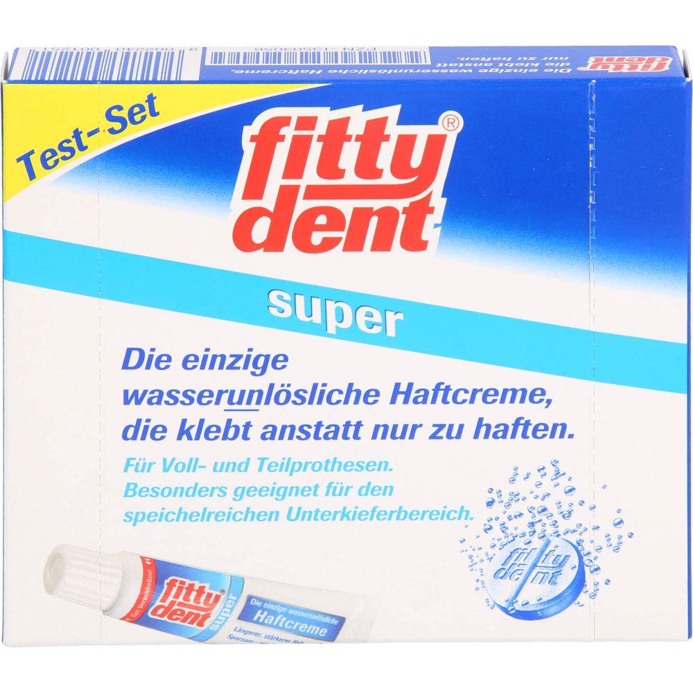 FITTYDENT super Haftcreme Test-Set 10g+4 Rein.Tab.