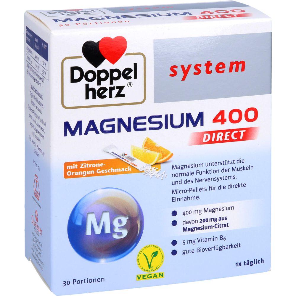 DOPPELHERZ Magnesium 400 DIRECT system Pellets