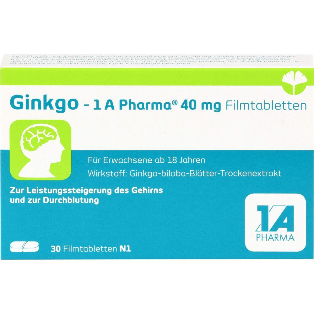 GINKGO-1A Pharma 40 mg Filmtabletten