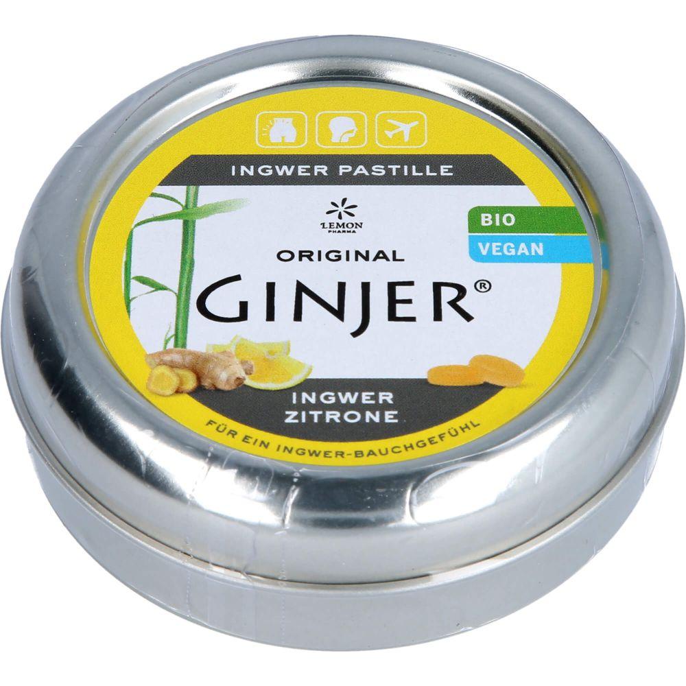INGWER GINJER Pastillen Bio Zitrone