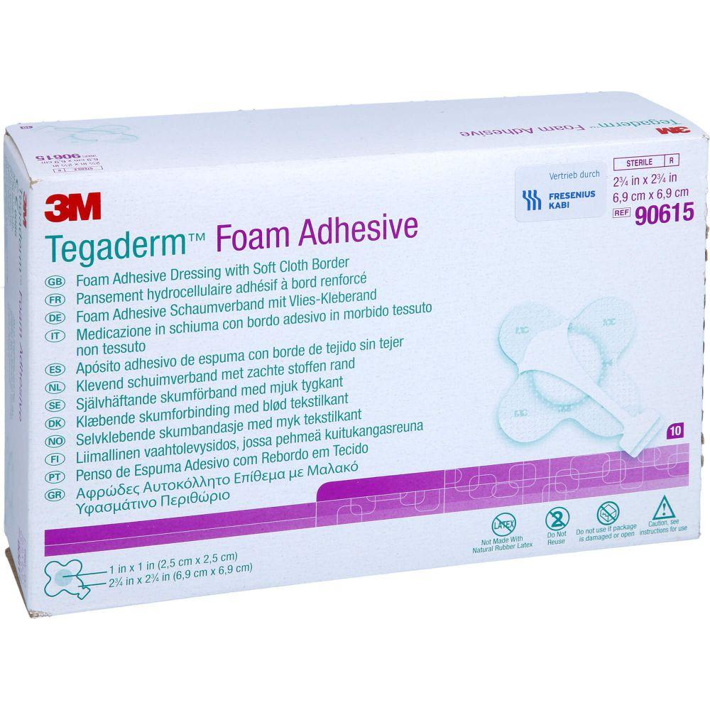 TEGADERM Foam Adhesive 6,9x6,9 cm kreuzform 90615