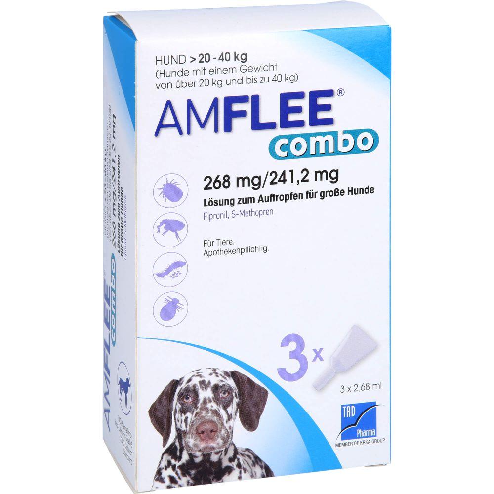 AMFLEE combo 268/241,2mg Lsg.z.Auf.f.Hunde 20-40kg
