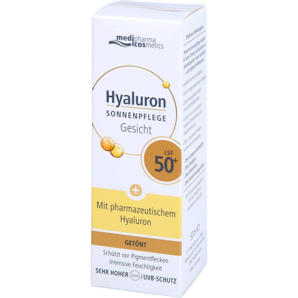 HYALURON SONNENPFLEGE Gesicht Creme LSF 50+ getönt