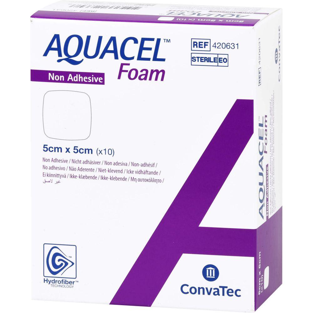 AQUACEL Foam nicht adhäsiv 5x5 cm Verband