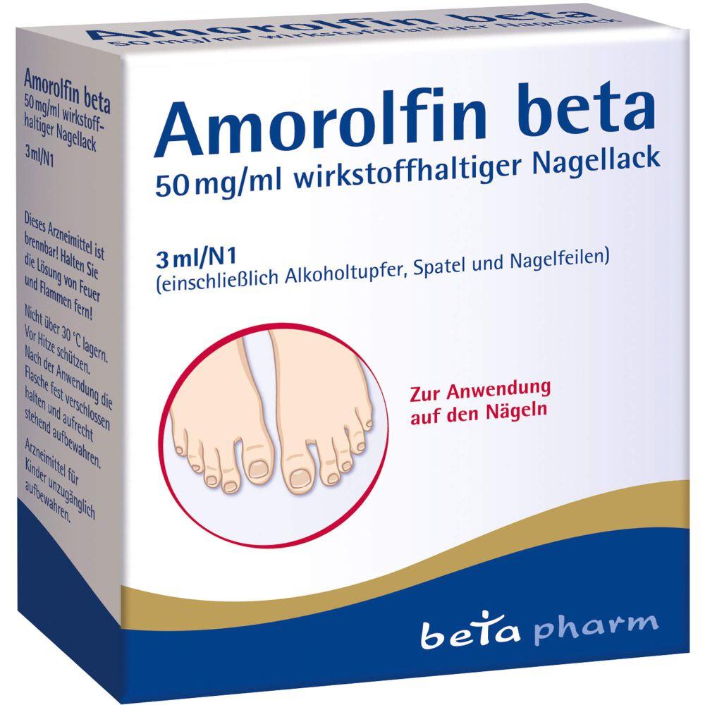 AMOROLFIN beta 50 mg/ml wirkstoffhalt.Nagellack